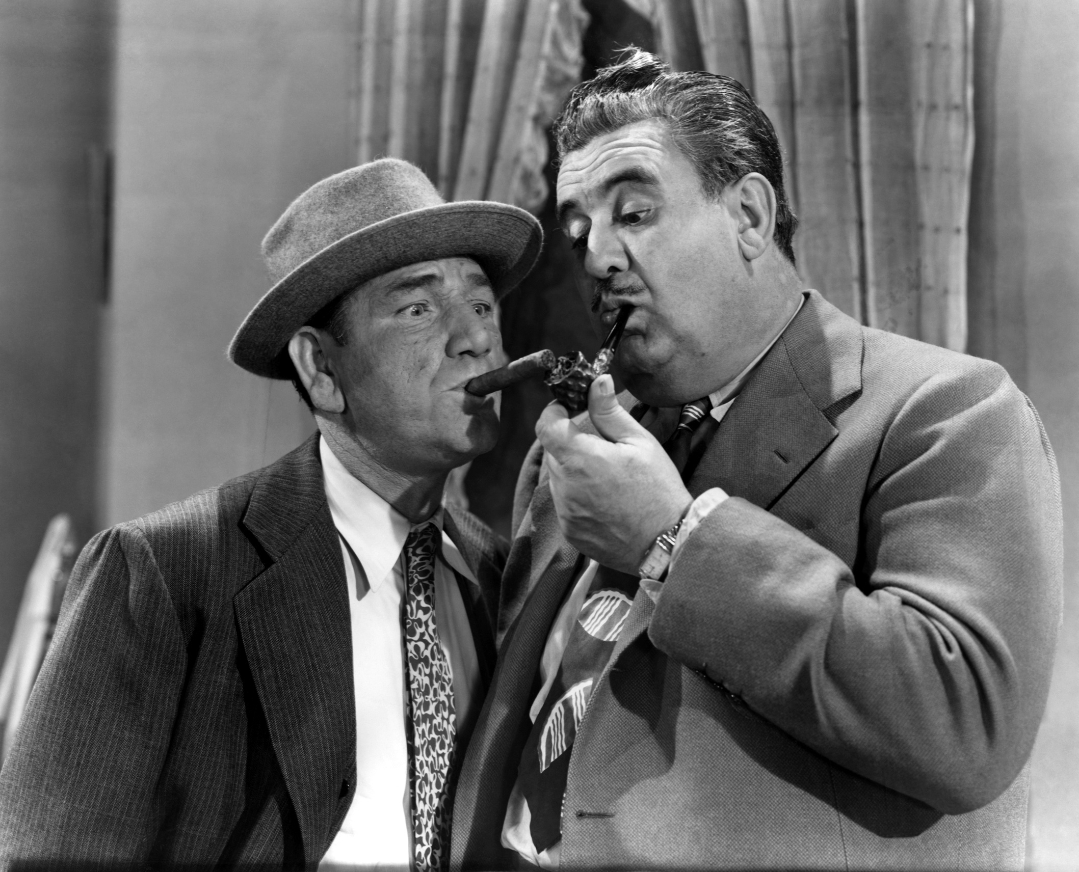 Billy Gilbert With Shemp Howard (L).