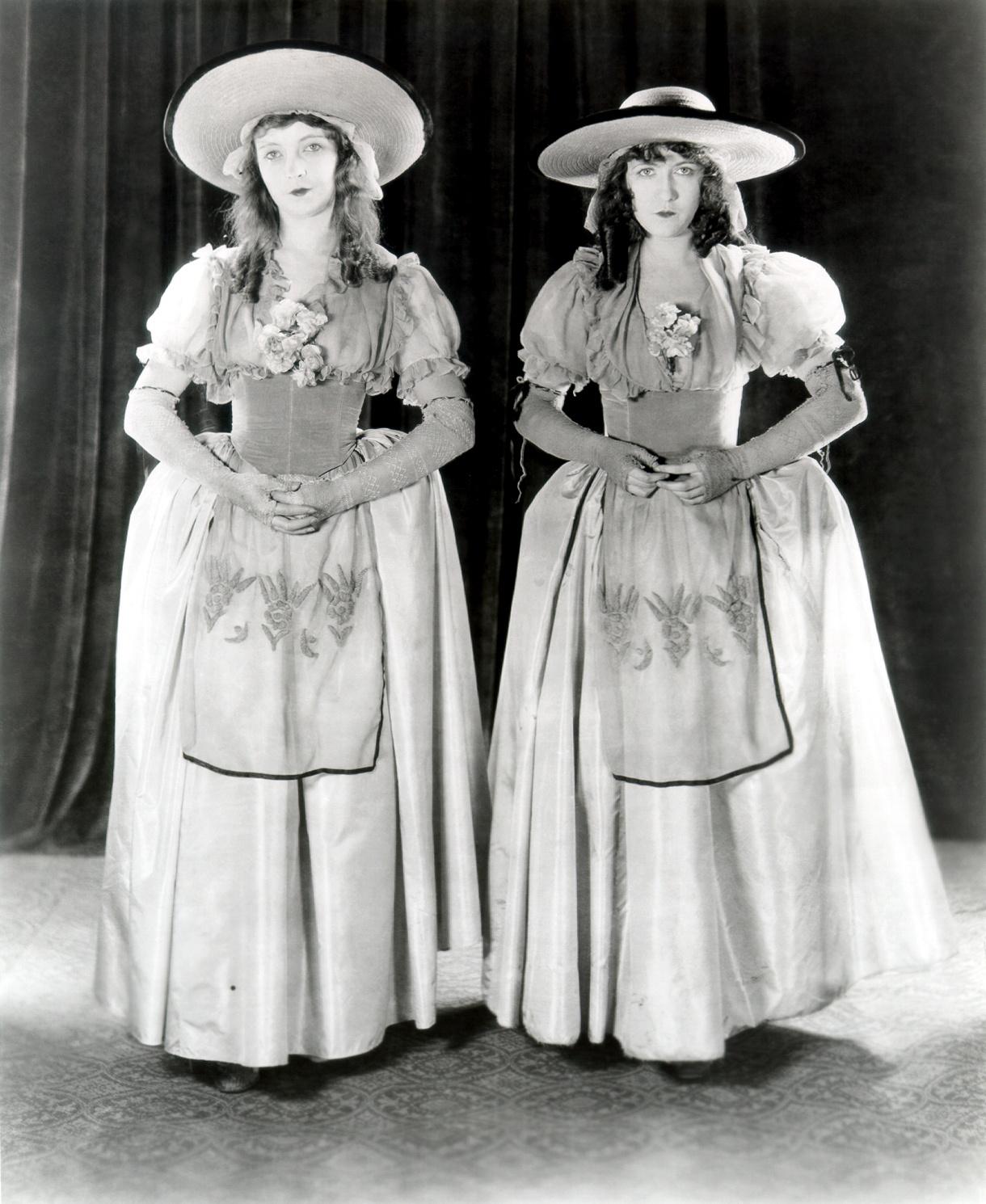 Lillian Gish With Dorothy Gish (R).