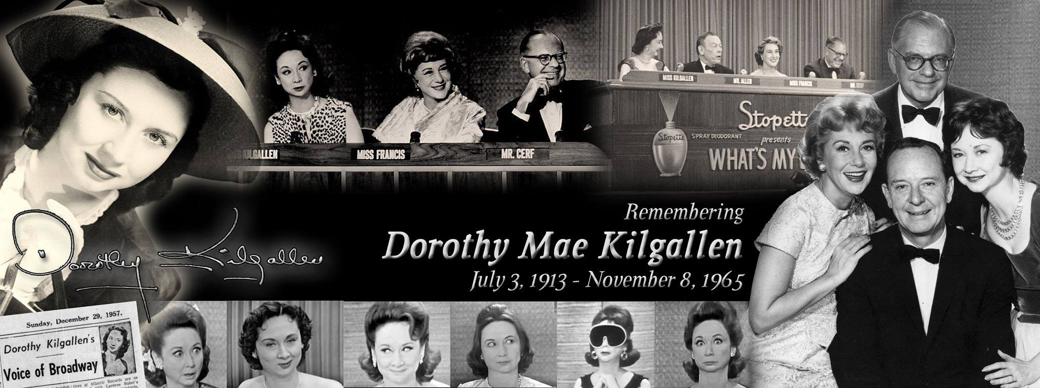 Thanks to fan Jason Michael Gilmore who created this beautiful tribute to Dorothy and posted it earlier on the WML closed group page… Dorothy, you've been gone 50 years, but your fans continue to celebrate your legacy!