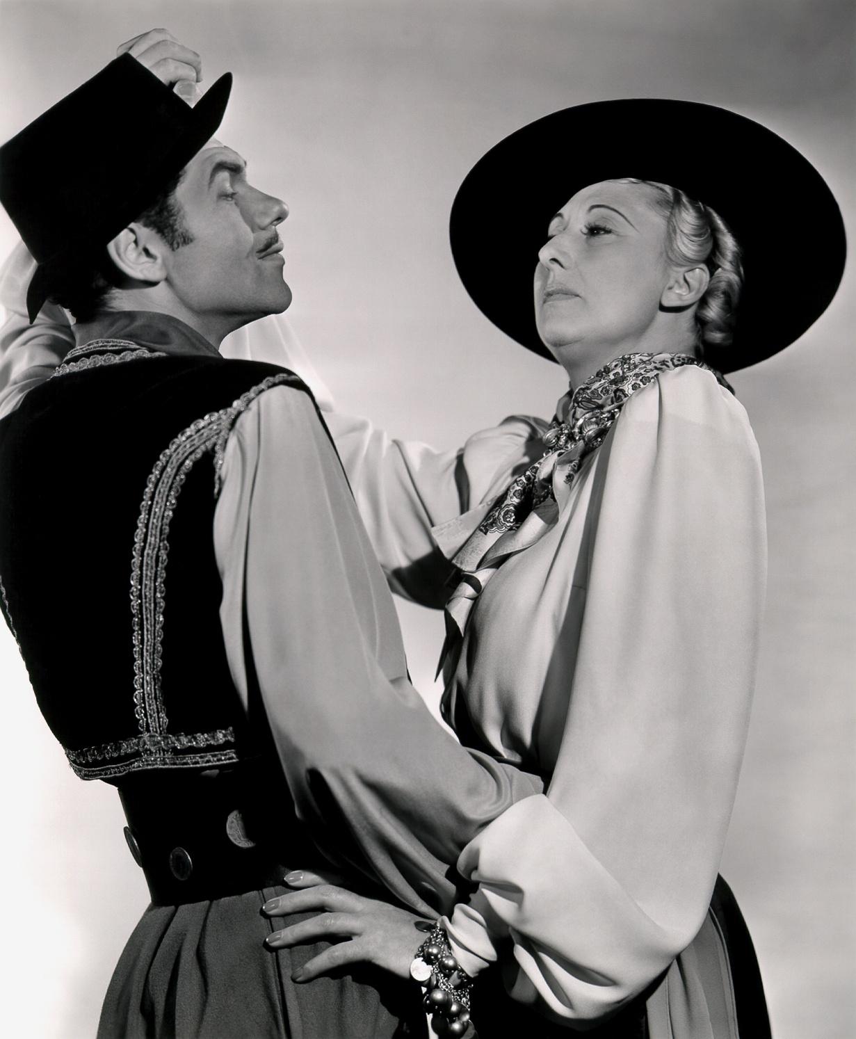 Charlotte Greenwood with  Leonid Kinskey.