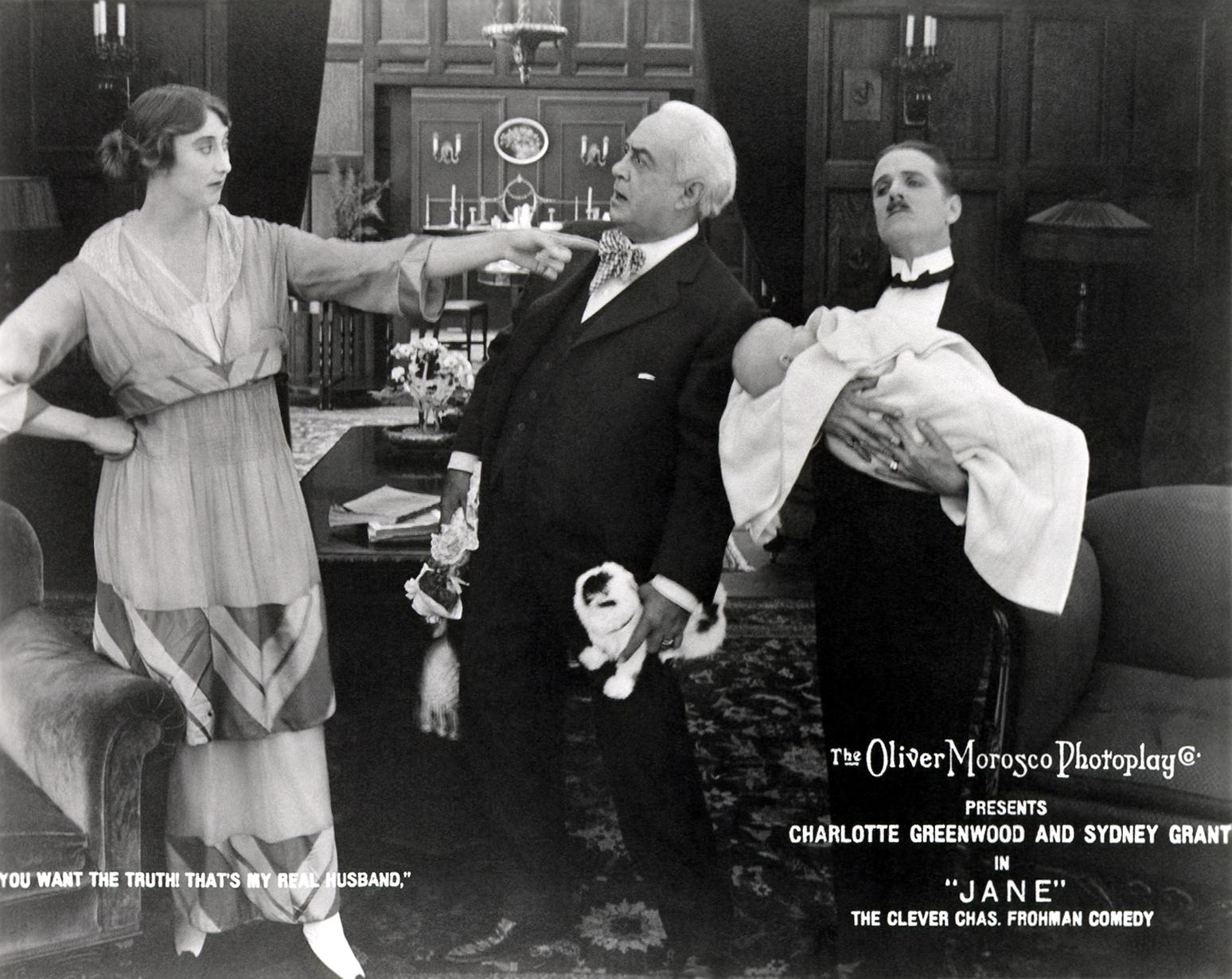 (L to R) Charlotte Greenwood, Herbert Standing, Forrest Stanley