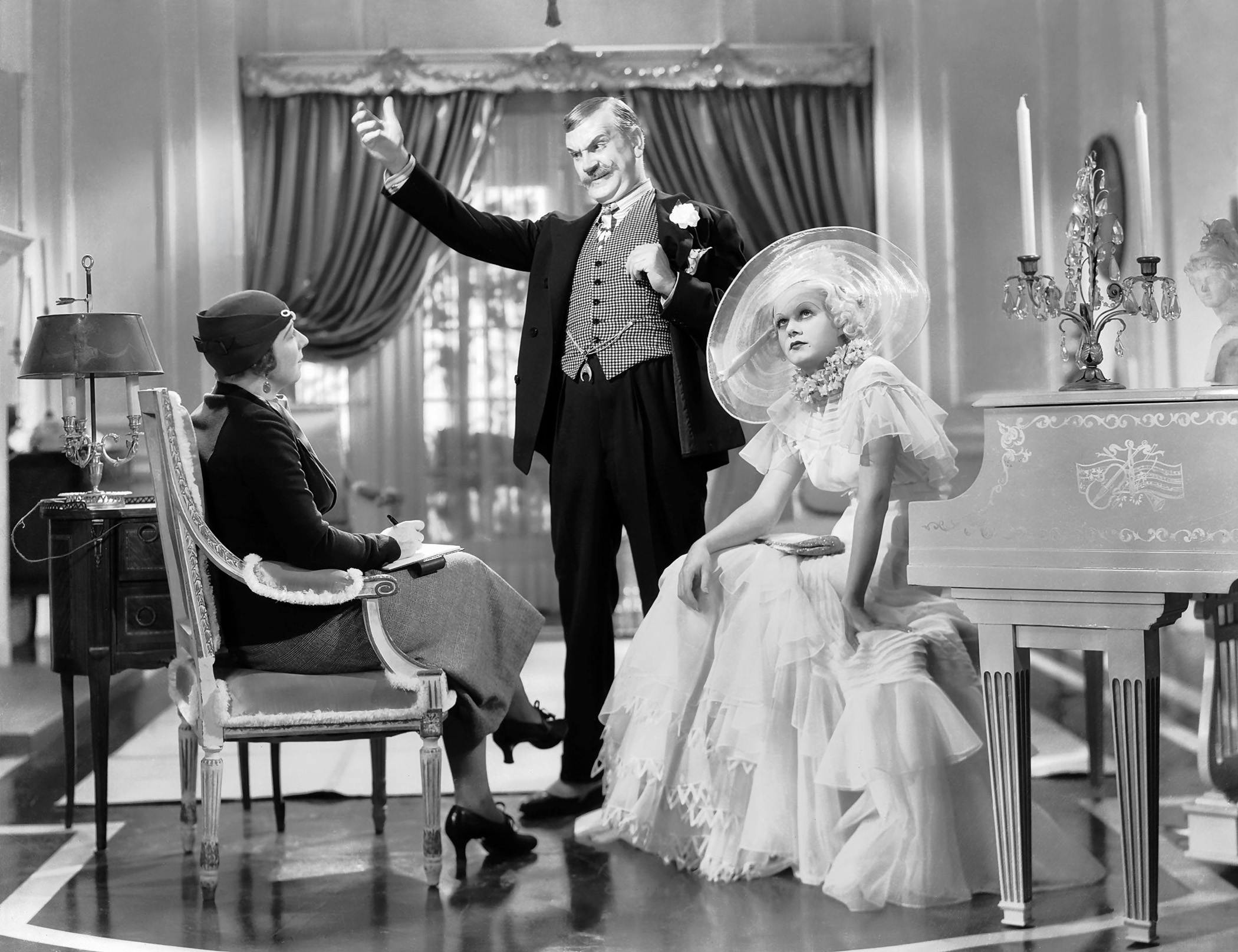 Jean Harlow in Bombshell With Frank Morgan