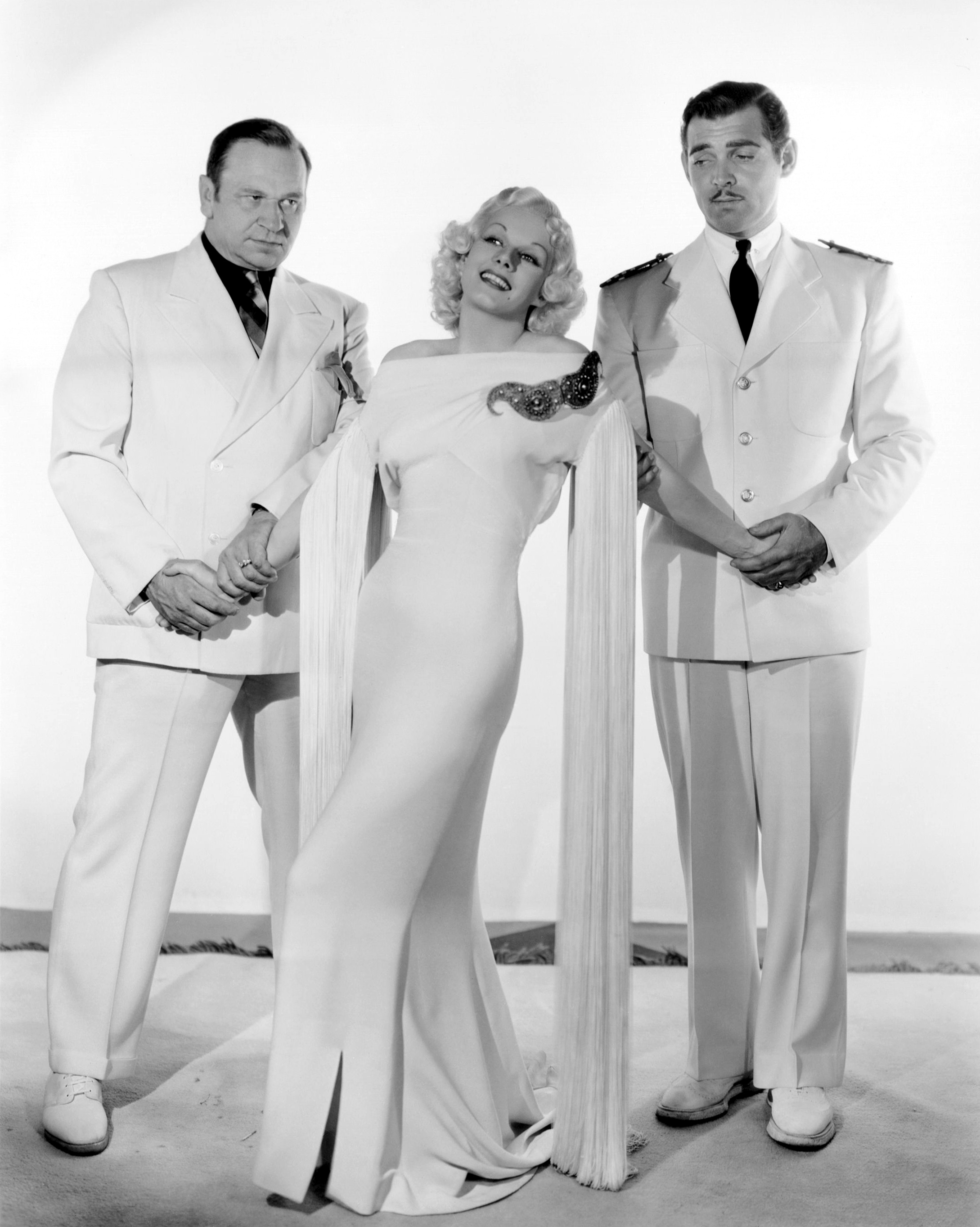 Jean Harlow in China Seas (L to R) Wallace Beery, Jean Harlow, Clark Gable