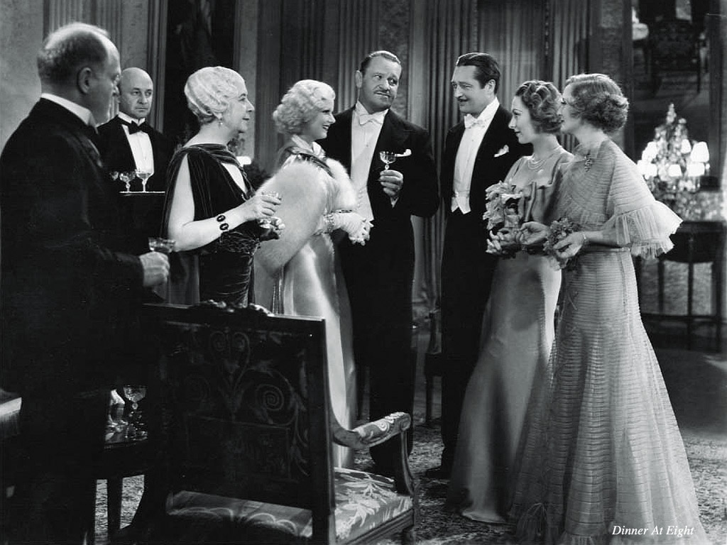 Jean Harlow in Dinner at Eight With Wallace Beery and Edmund Lowe