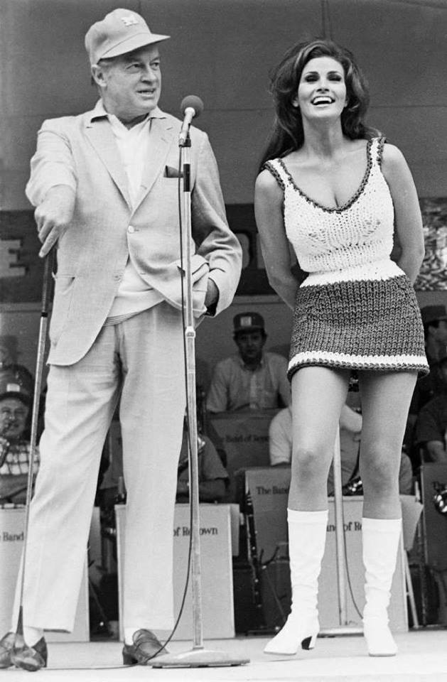 Bob Hope and Raquel Welch