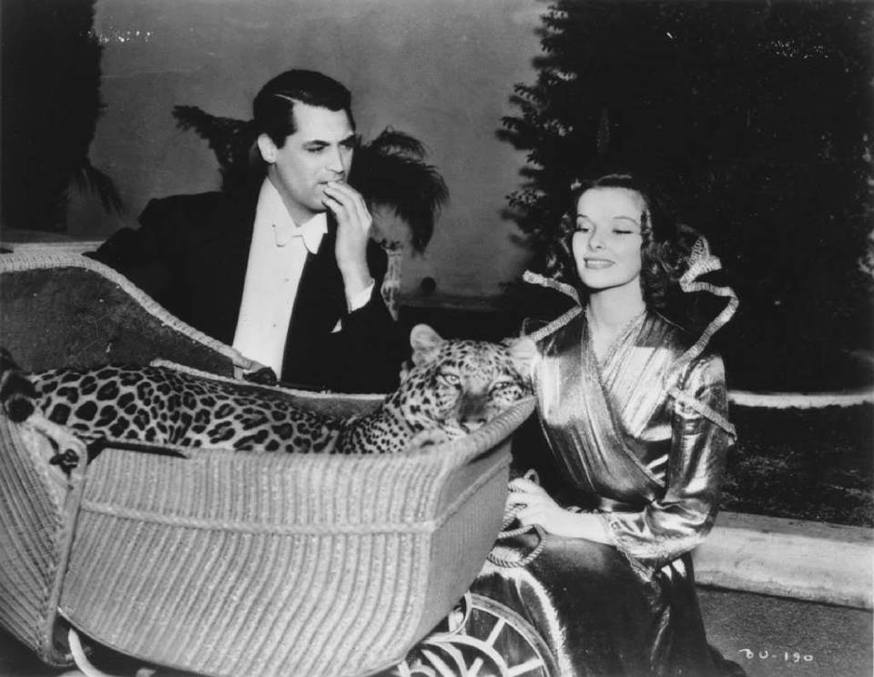 Katharine Hepburn and  Cary Grant.