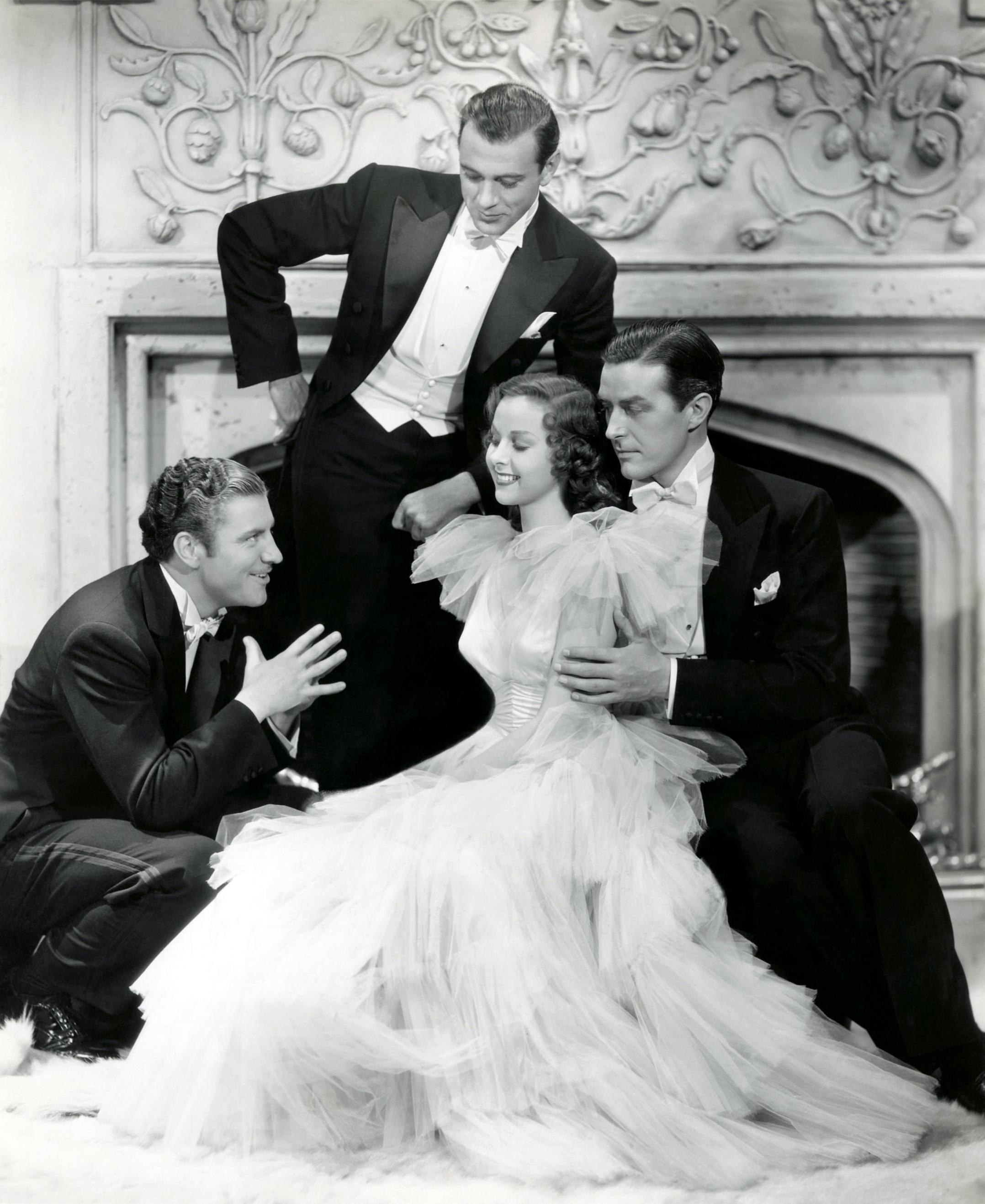 Susan Hayward in Beau Geste with (L to R) Robert Preston, Gary Cooper, Susan Hayward, Ray Milland