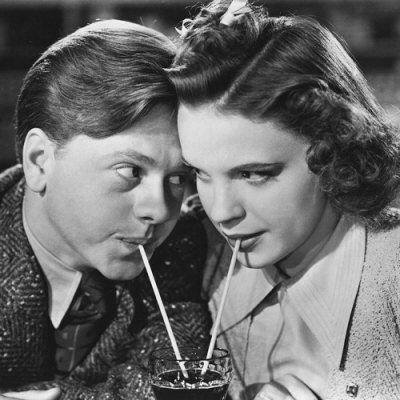 Mickey Rooney and Judy Garland.