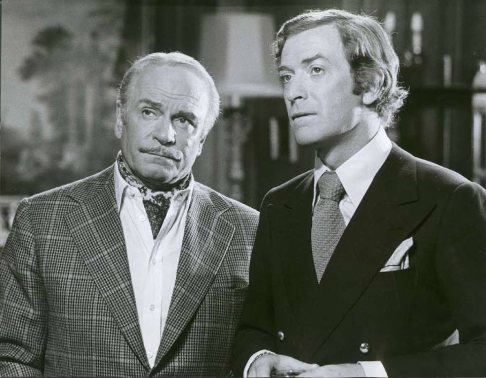 Laurence Olivier and Michael Caine
