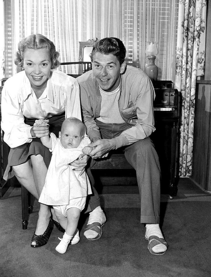 Ronald Reagan and Jane Wyman and there daughter