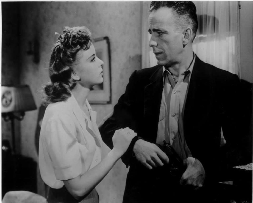 Humphrey Bogart and Ida Lupino