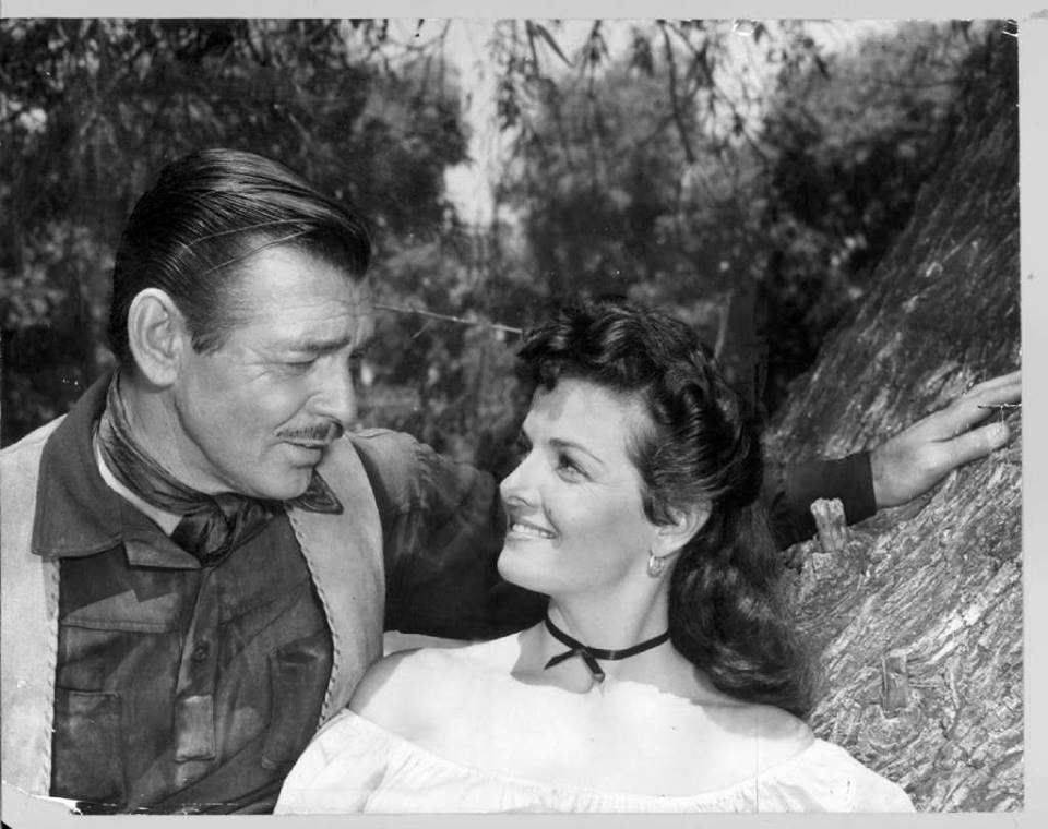 Clark Gable and Jane Russell