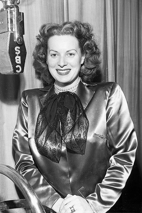 Maureen O'Hara performing for CBS Radio in the 1940s