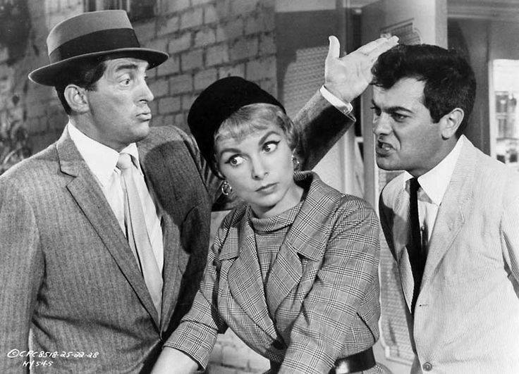 Dean Martin with Janet Leigh and Tony Curtis