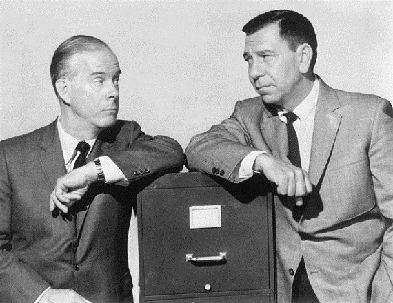 Jack Webb with Harry Morgan on the TV Series Dragnet 1967