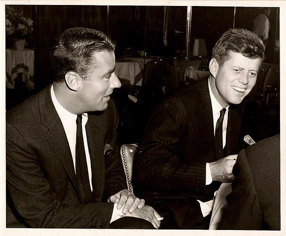 Peter Lawford and his one-time brother in-law John F. Kennedy. Lawford was married to Kennedy's sister Patricia from 1954 until their divorce in 1966