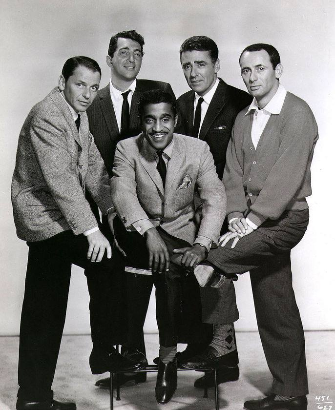 Peter Lawford, Frank Sinatra, Dean Martin, Sammy Davis Jr.and Joey Bishop