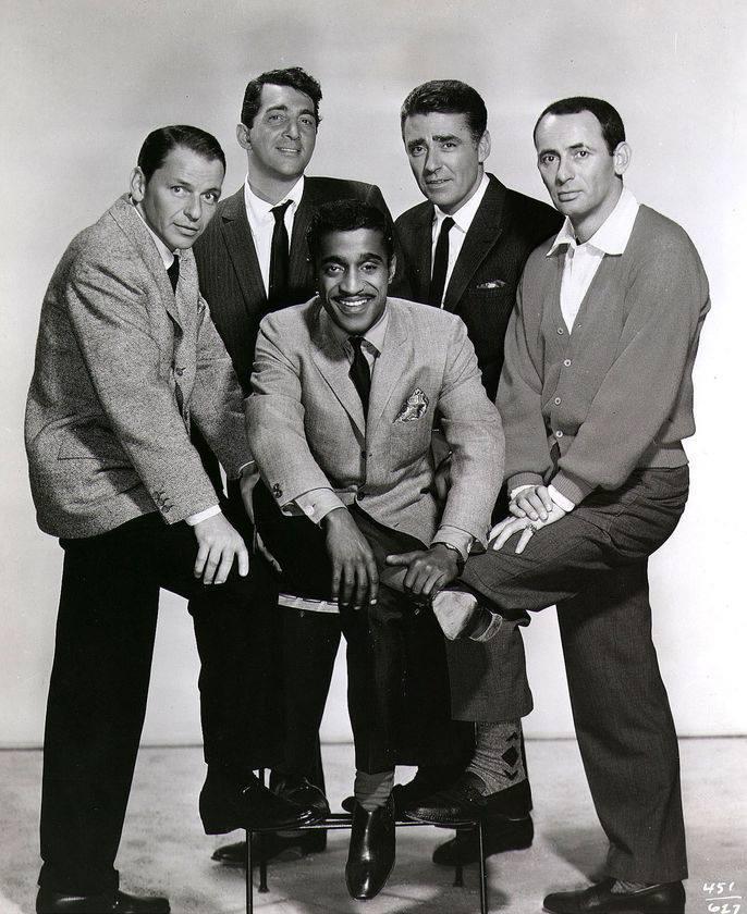 Frank Sinatra, Dean Martin, Sammy Davis Jr., Peter Lawford, and Joey Bishop