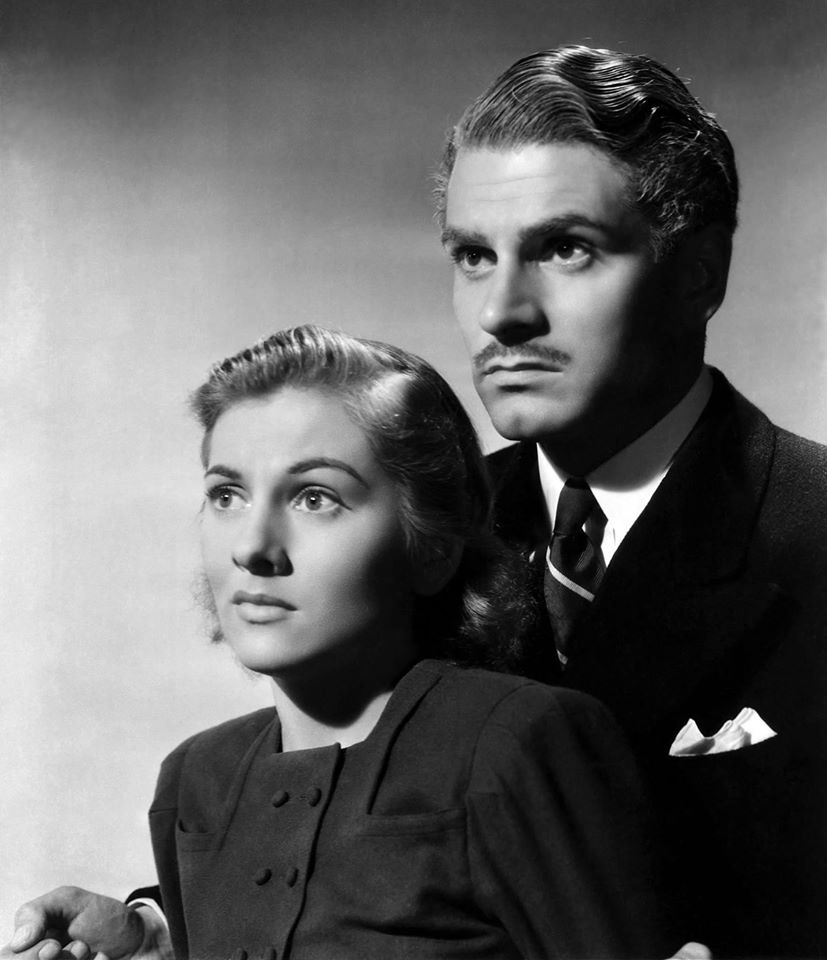 Joan Fontaine and Laurence Olivier