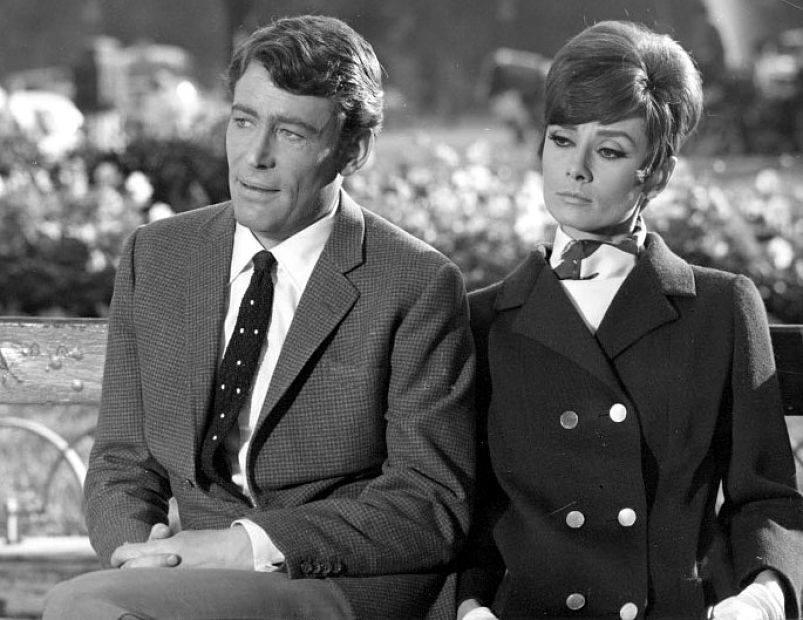 Peter O'Toole and Audrey Hepburn