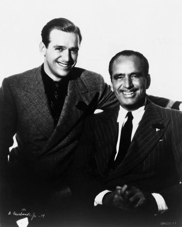 Douglas Fairbanks Sr. with son Douglas Fairbanks Jr.