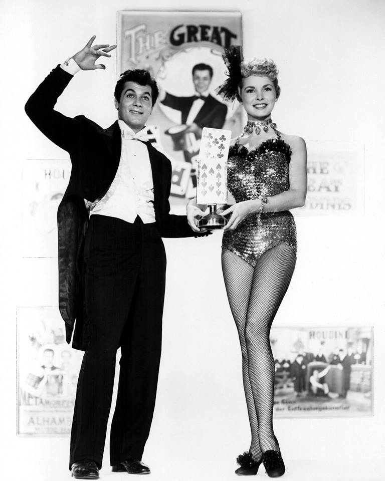 Janet Leigh with then husband Tony Curtis in Houdini