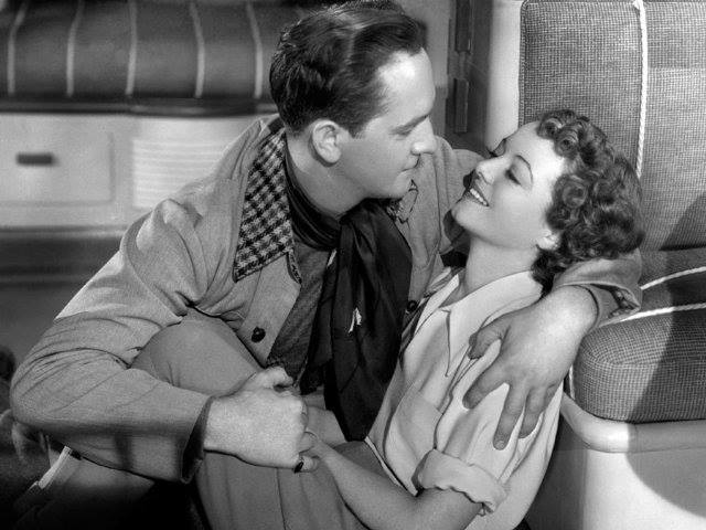 Janet Gaynor with Fredric March