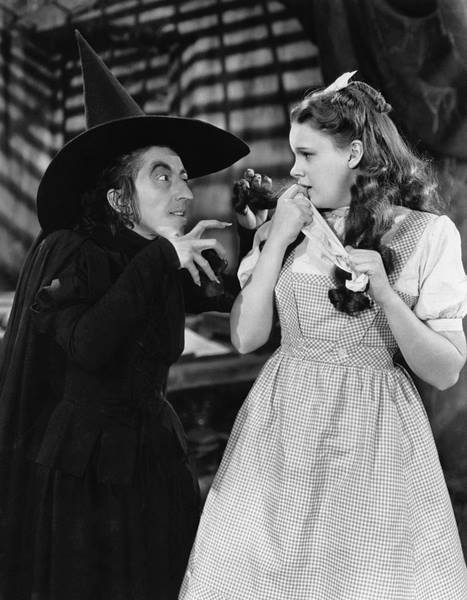 Margaret Hamilton and Judy Garland