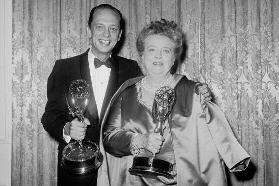Don Knotts with Frances Bavier.