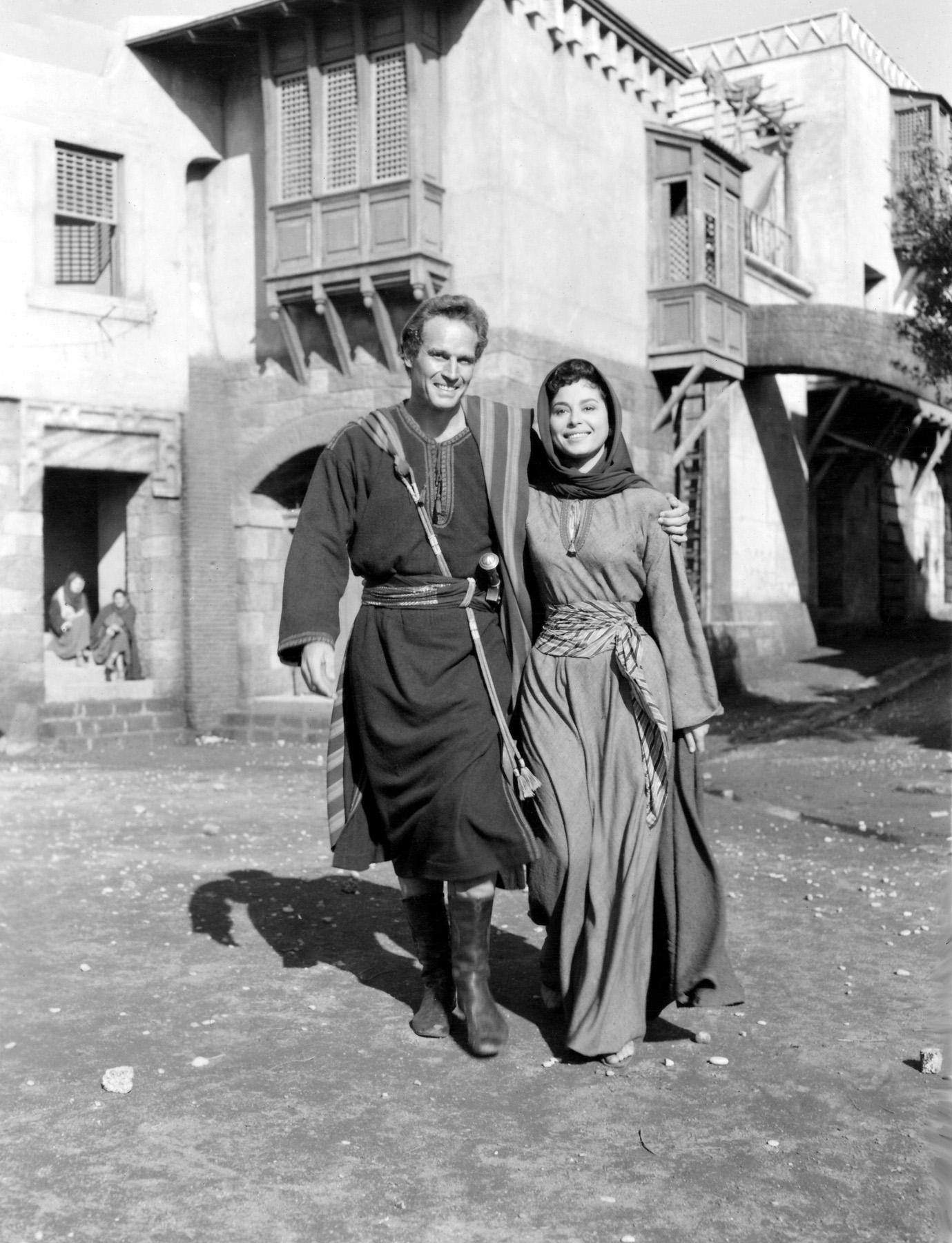 Charlton Heston in Ben-Hur With Haya Harareet