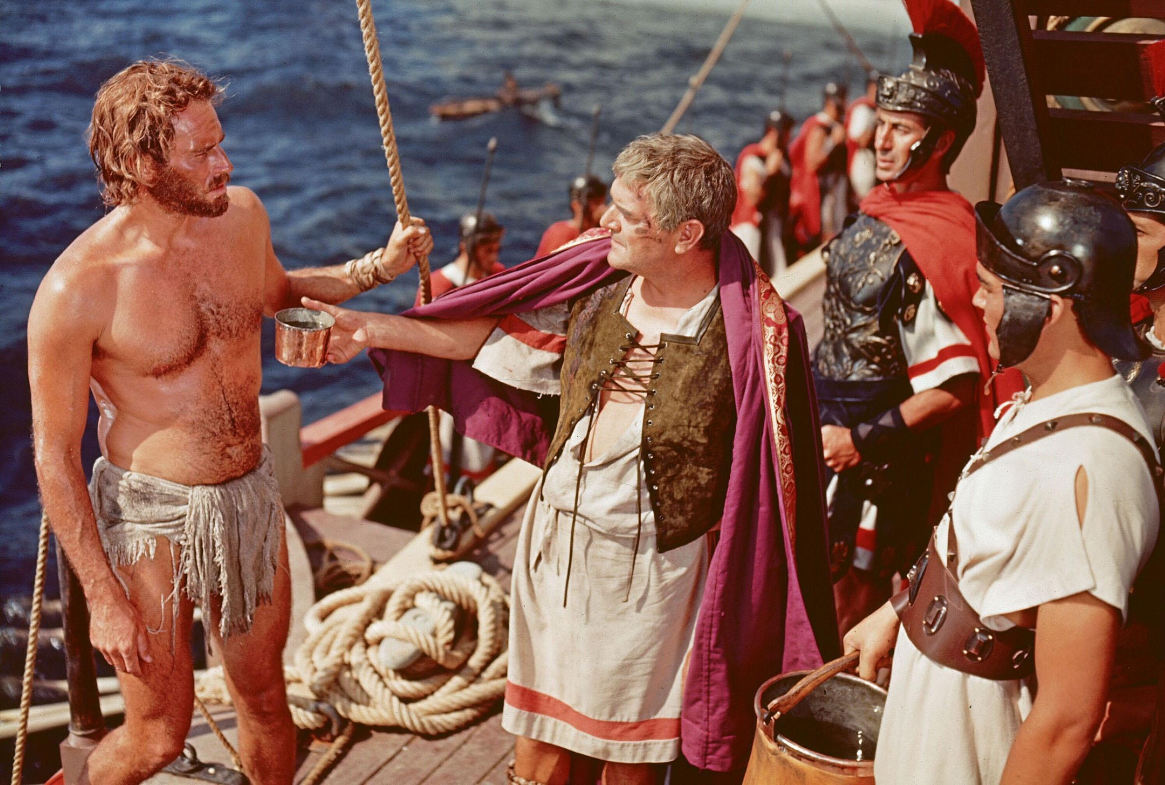 Charlton Heston in Ben-Hur With Jack Hawkins (C)