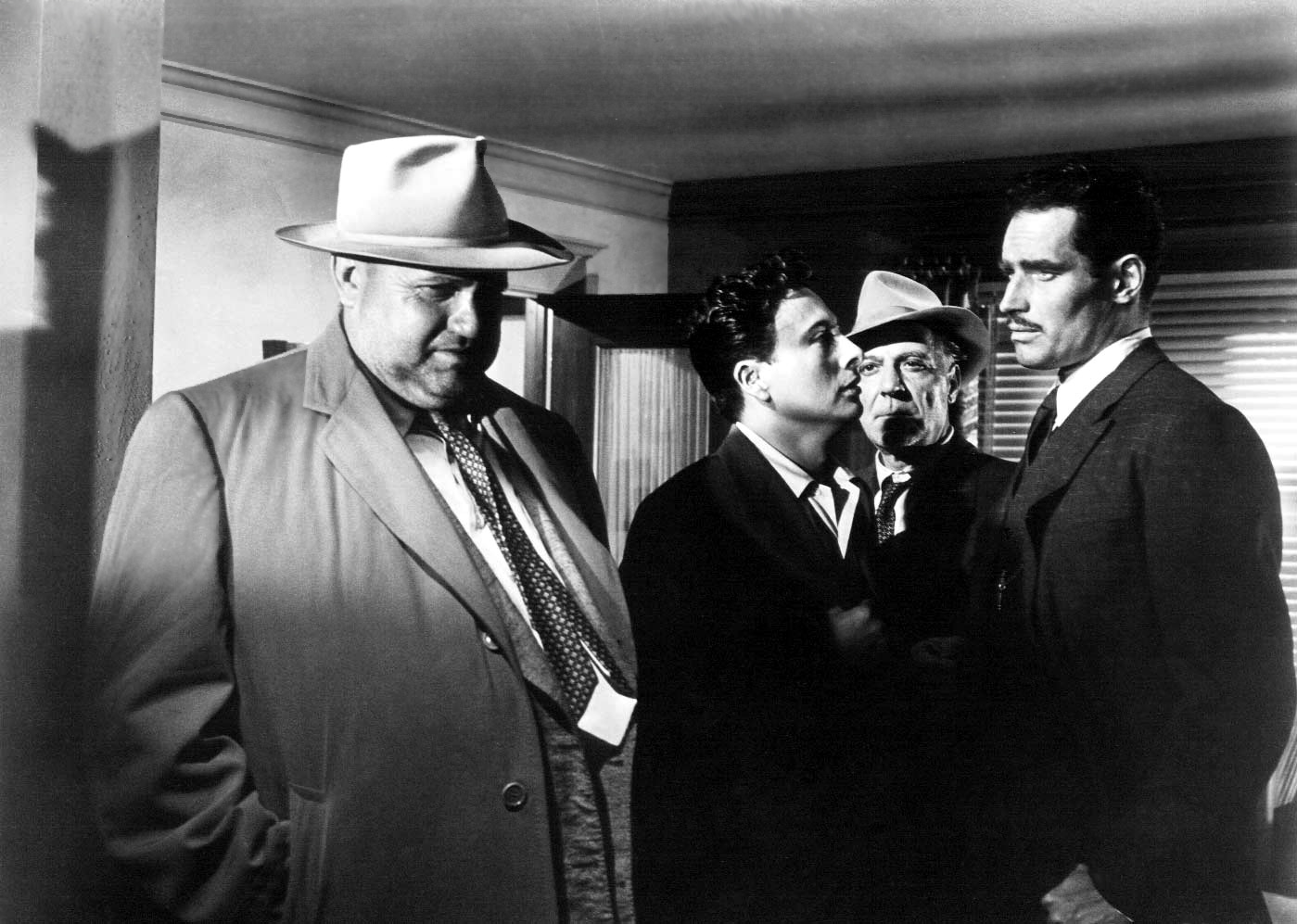 Charlton Heston in Touch of Evil With Orson Welles (Left)