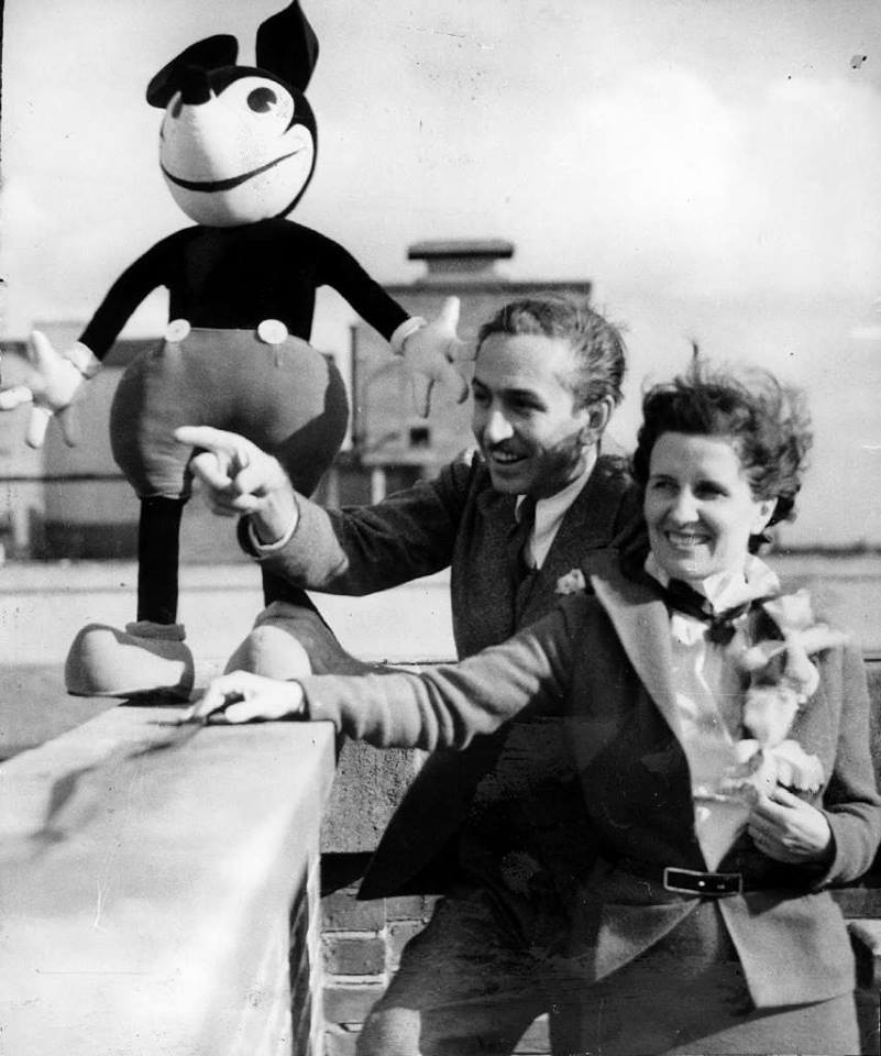 Disney and his wife Lillian