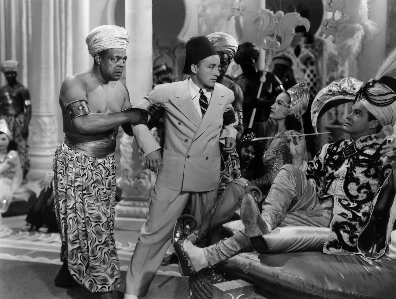 Bob Hope in Road to Morocco (L to R) Bing Crosby, Dorothy Lamour, Bob Hope