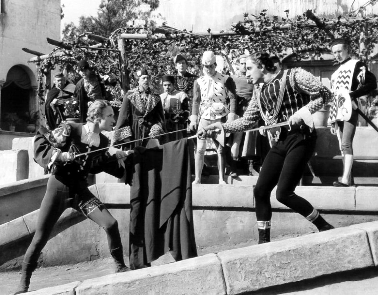 Leslie Howard in Romeo and Juliet With Basil Rathbone (R foreground)