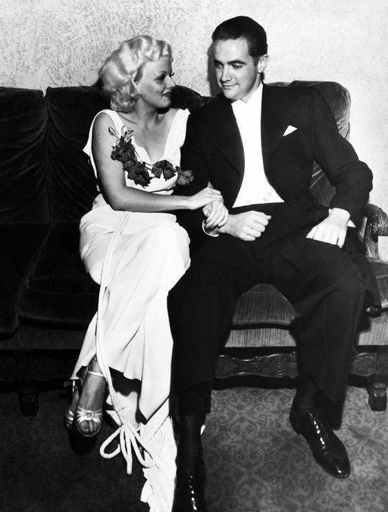 Jean Harlow and Howard Hughes 1930's