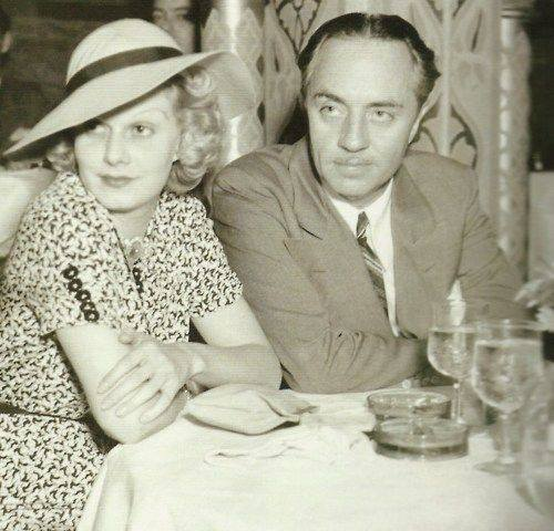 William Powell and Jean Harlow at the Cocoanut Grove. February 1936