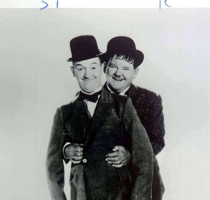 Stan Laurel and Olivier Hardy