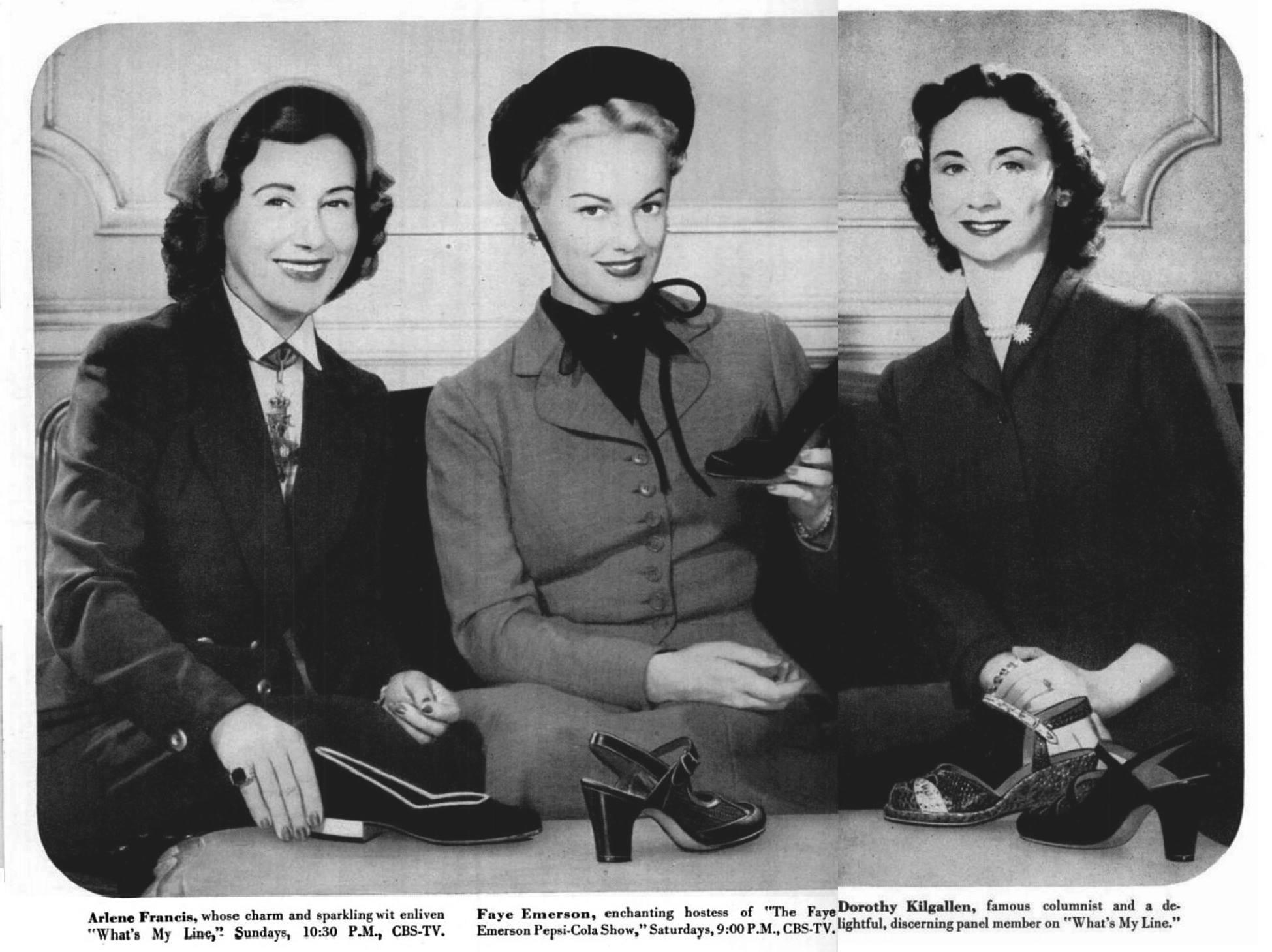 Arlene, Faye Emerson and Dorothy Kilgallen