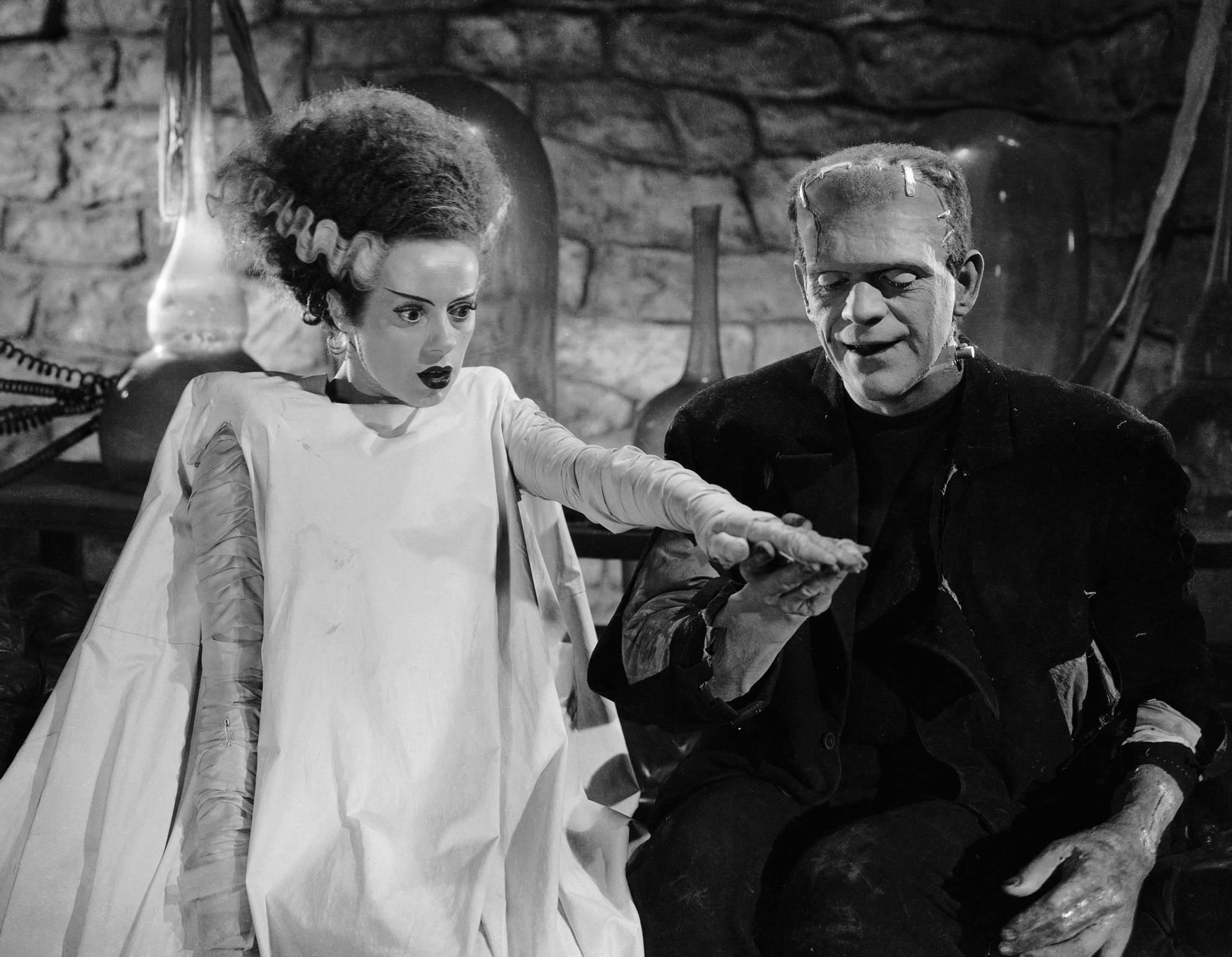 Boris Karloff With Elsa Lanchester