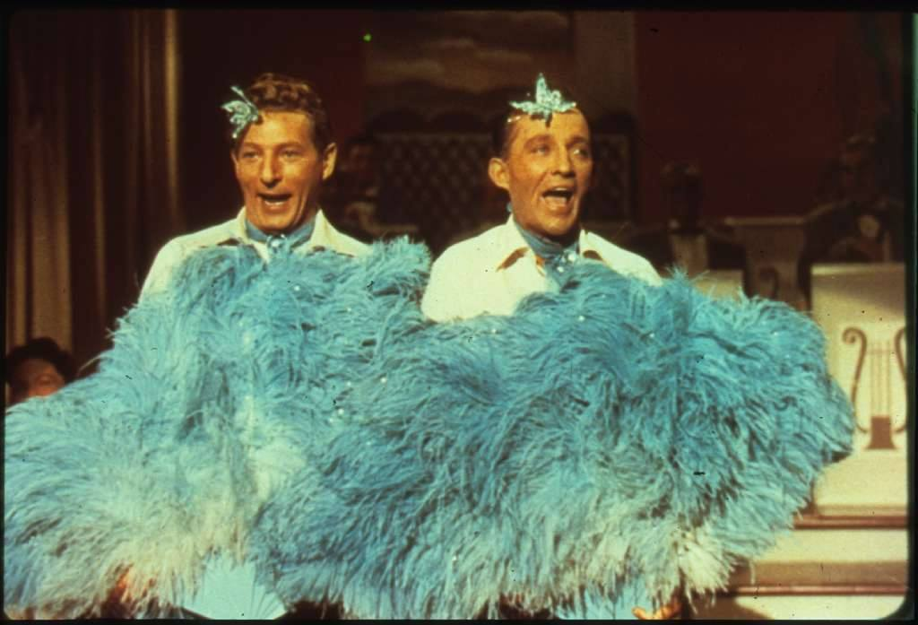 Bing Crosby and Danny Kaye performing