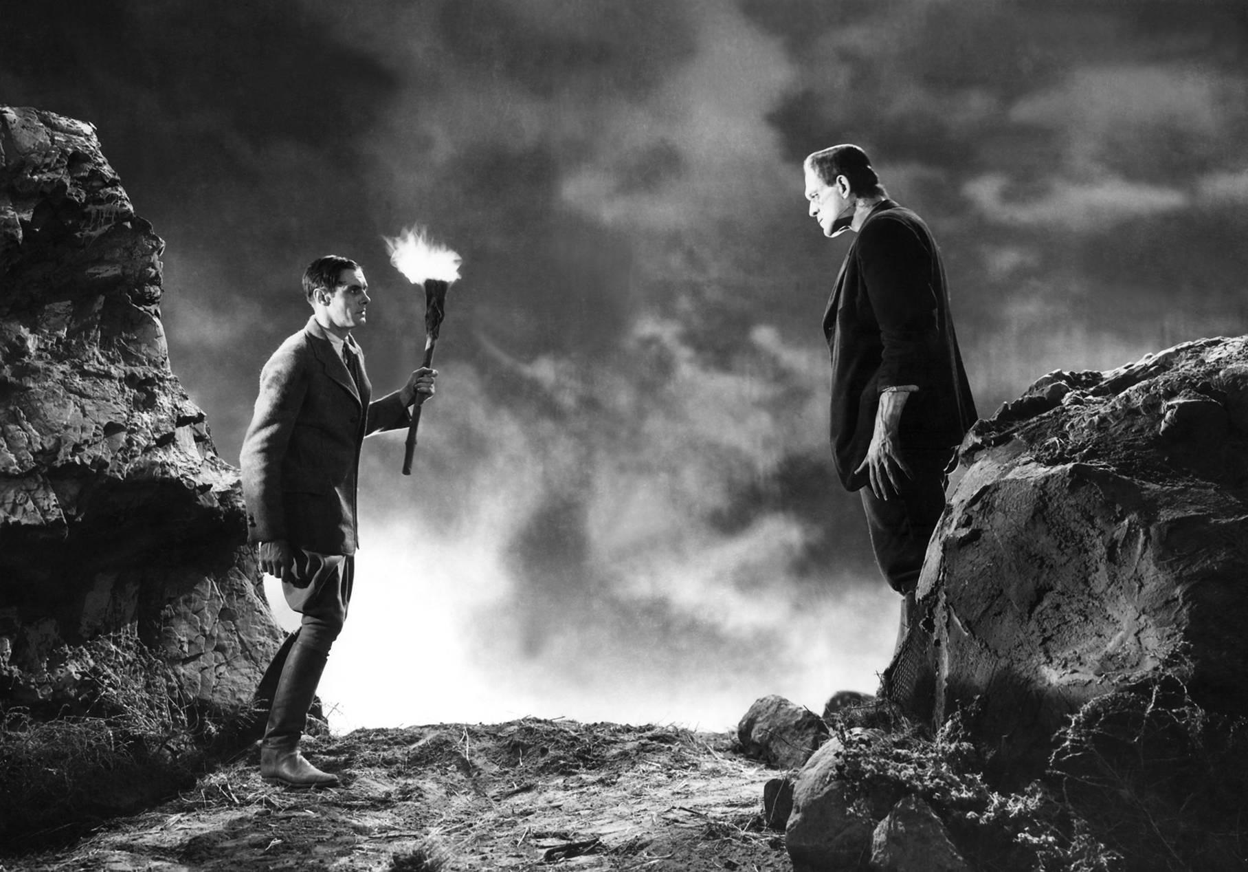 Boris Karloff With Colin Clive