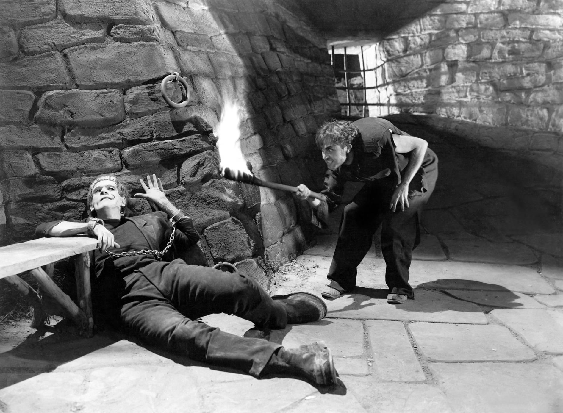 Boris Karloff With Dwight Frye