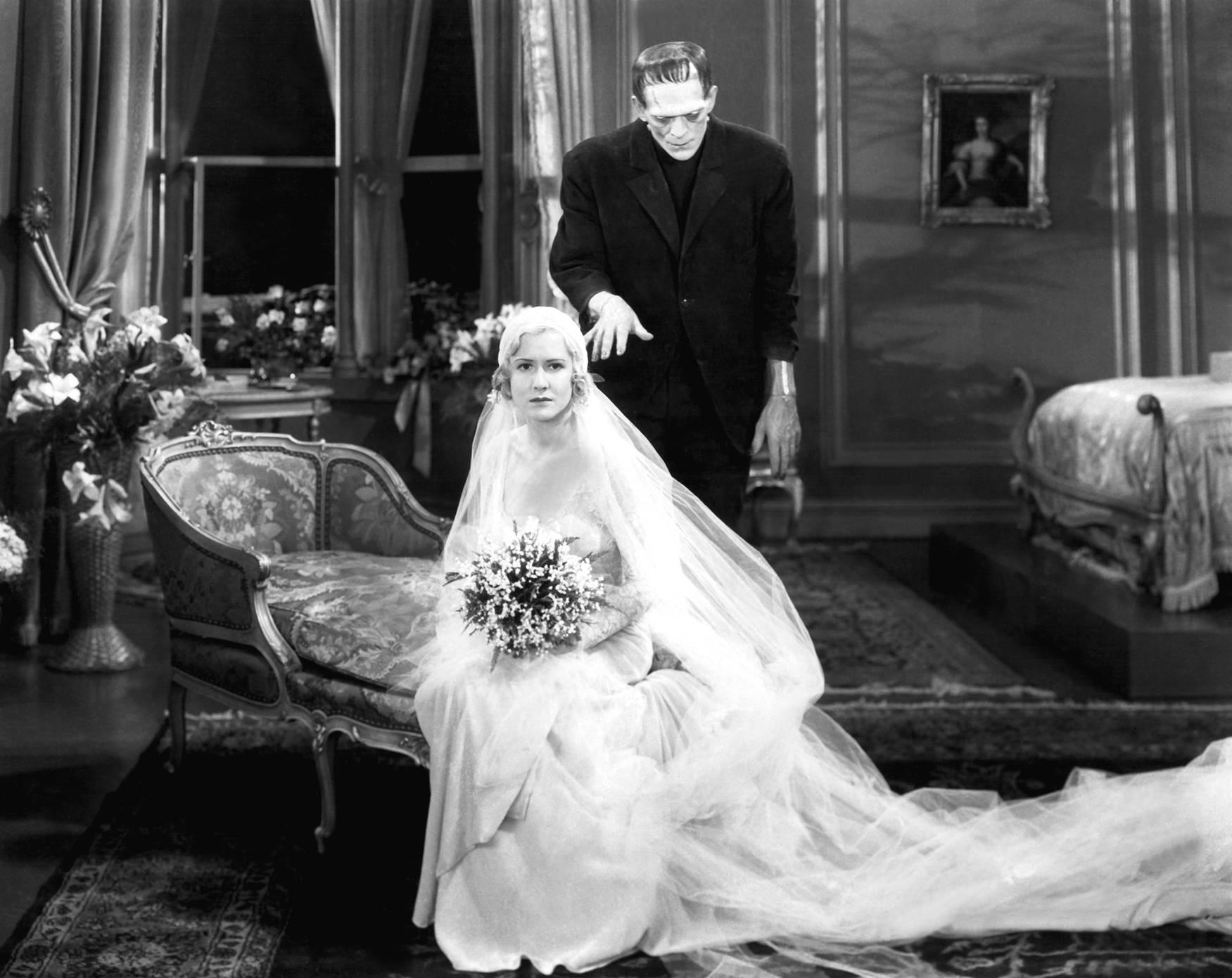 Boris Karloff With Mae Clarke