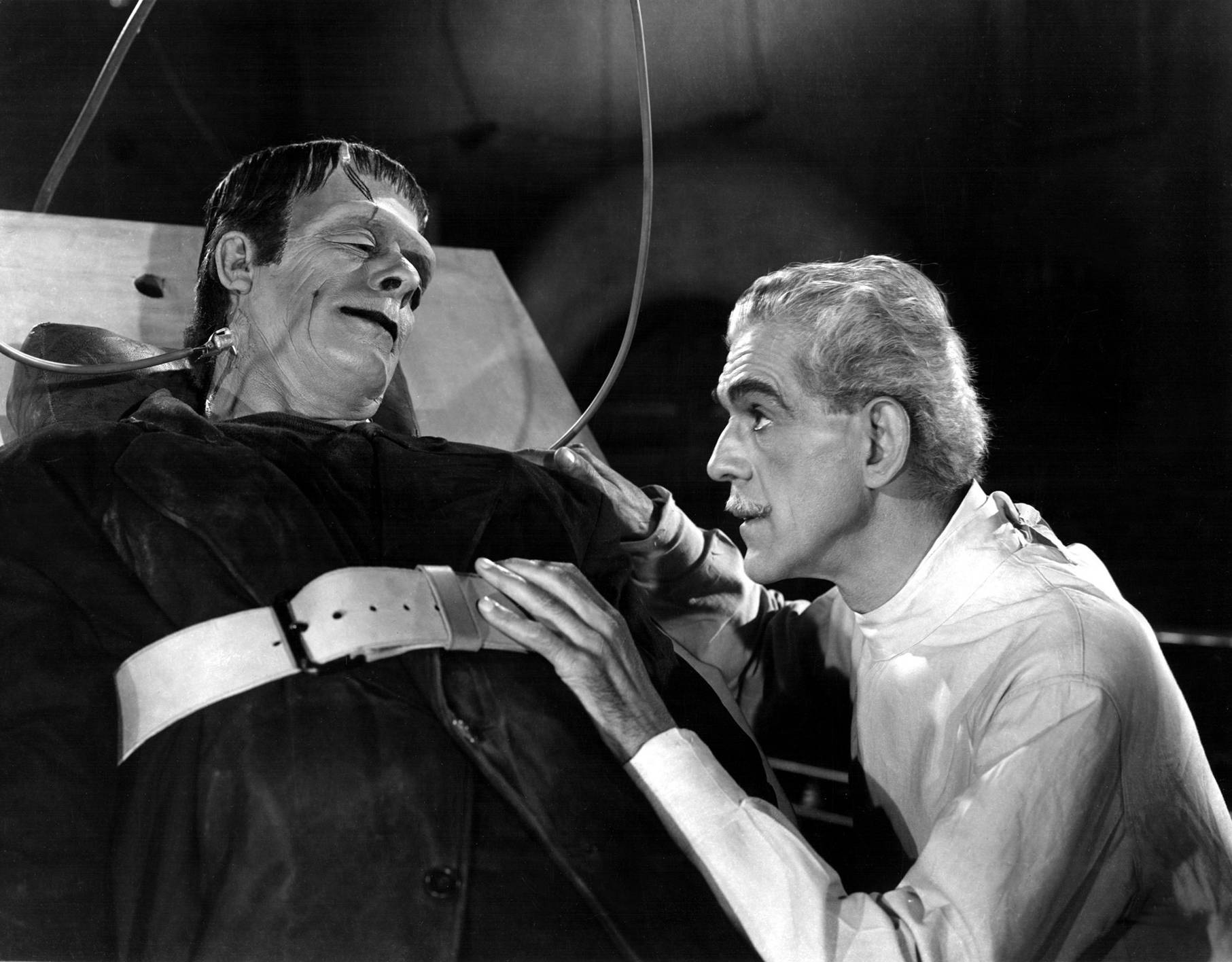 Boris Karloff With Glenn Strange
