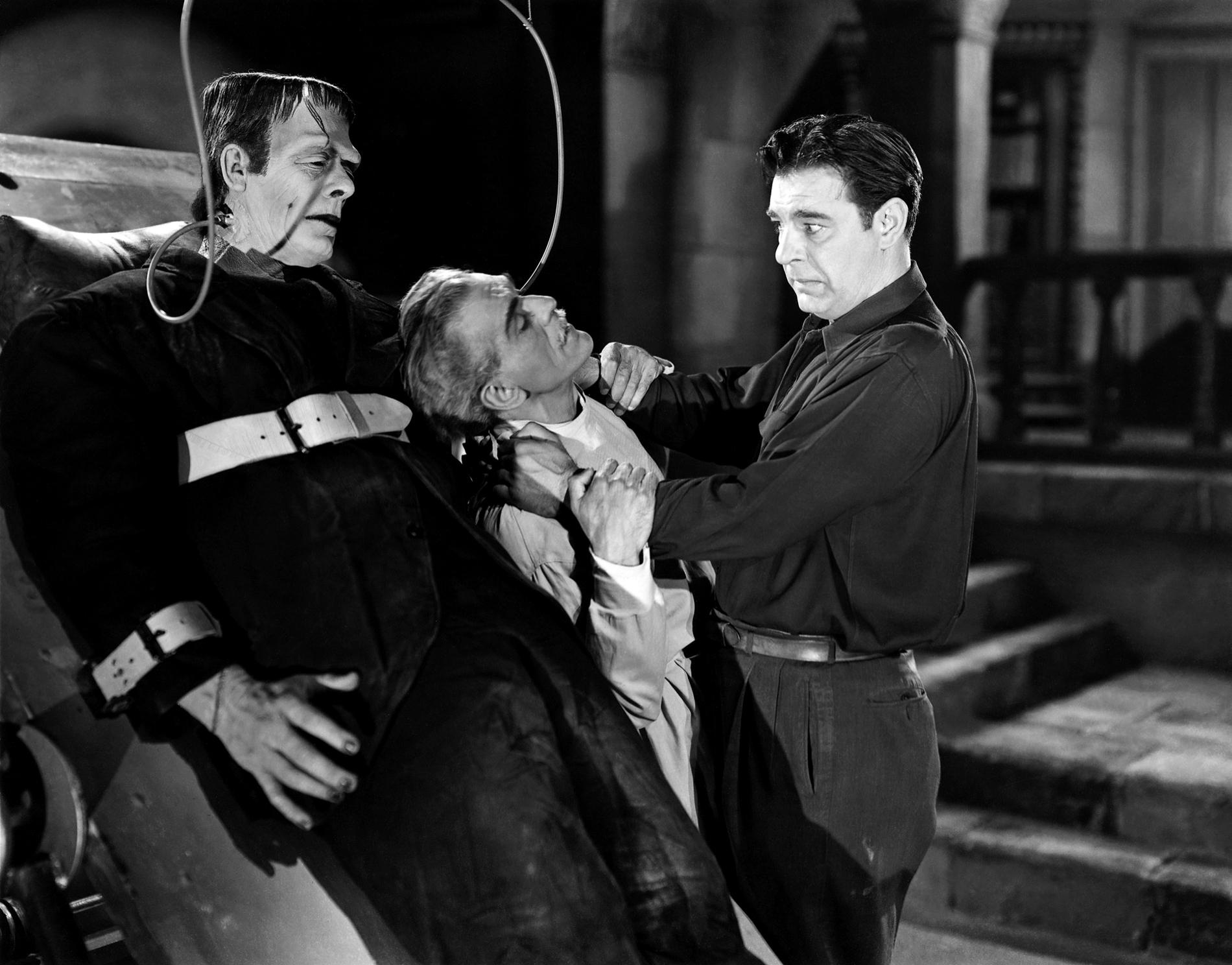 Glenn Strange, Boris Karloff, Lon Chaney, Jr.