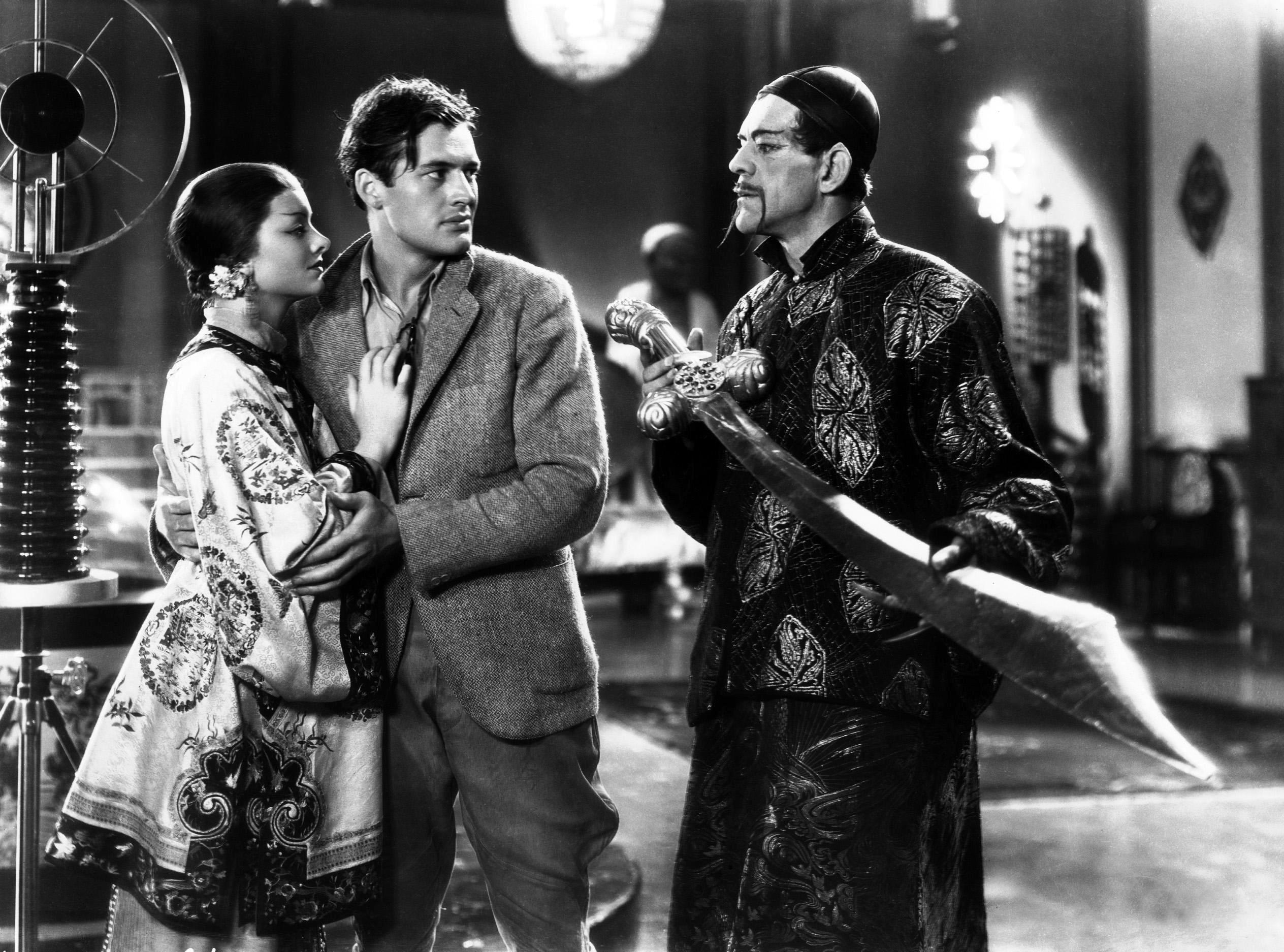 Myrna Loy, Charles Starrett, Boris Karloff