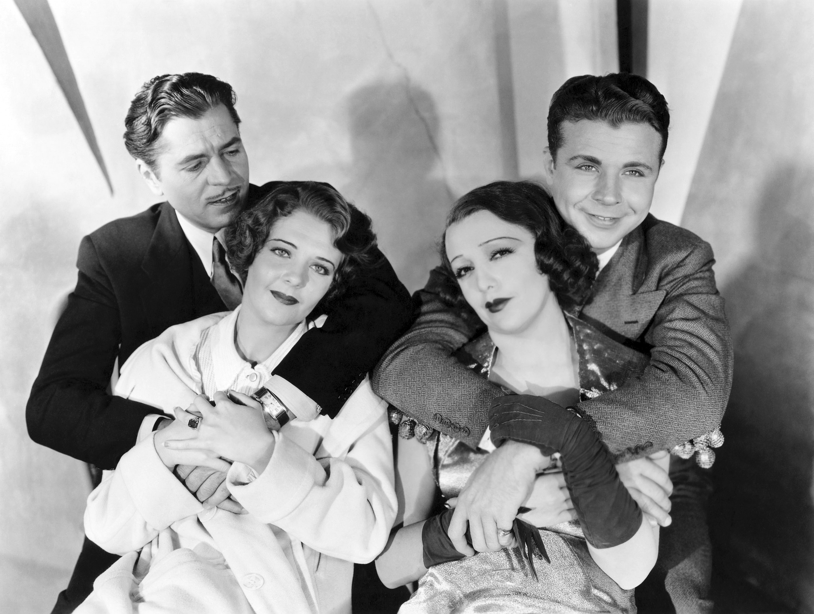 Ruby Keeler in 42nd Street with (L to R) Warner Baxter, Ruby Keeler, Bebe Daniels, Dick Powell (Courtesy of Sarah and MIchelle)