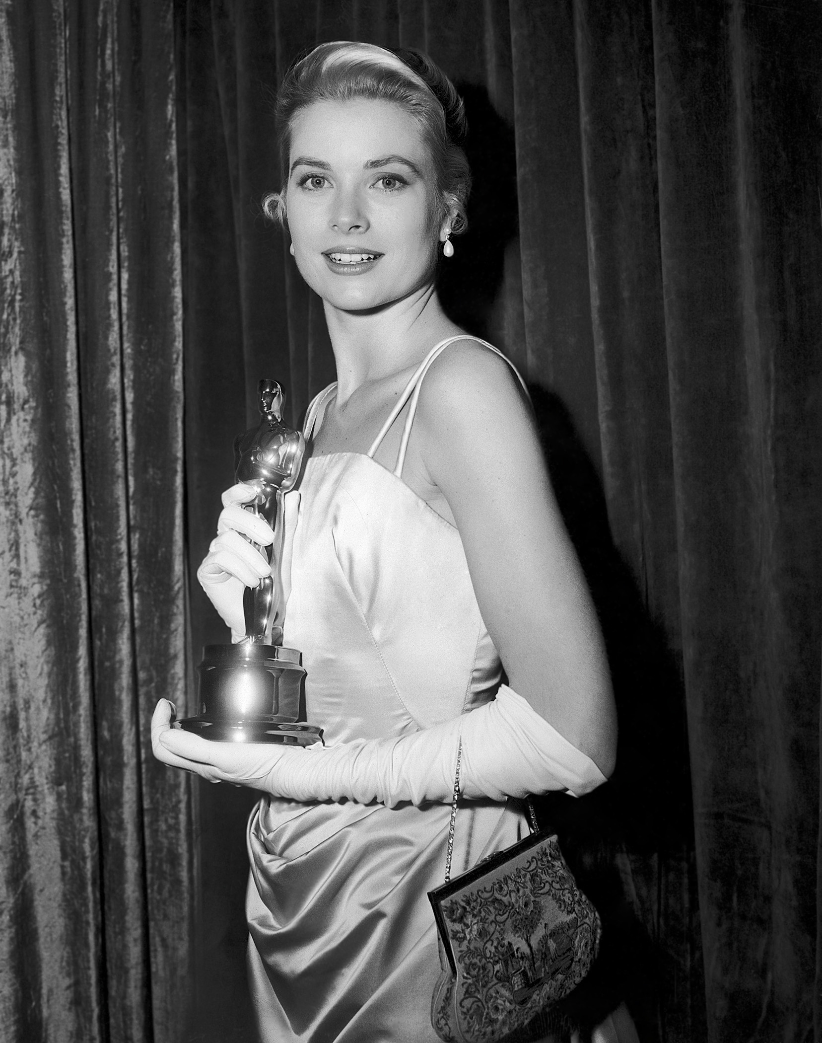 Grace Kelly Accepting Oscar for Best Actress in The Country Girl
