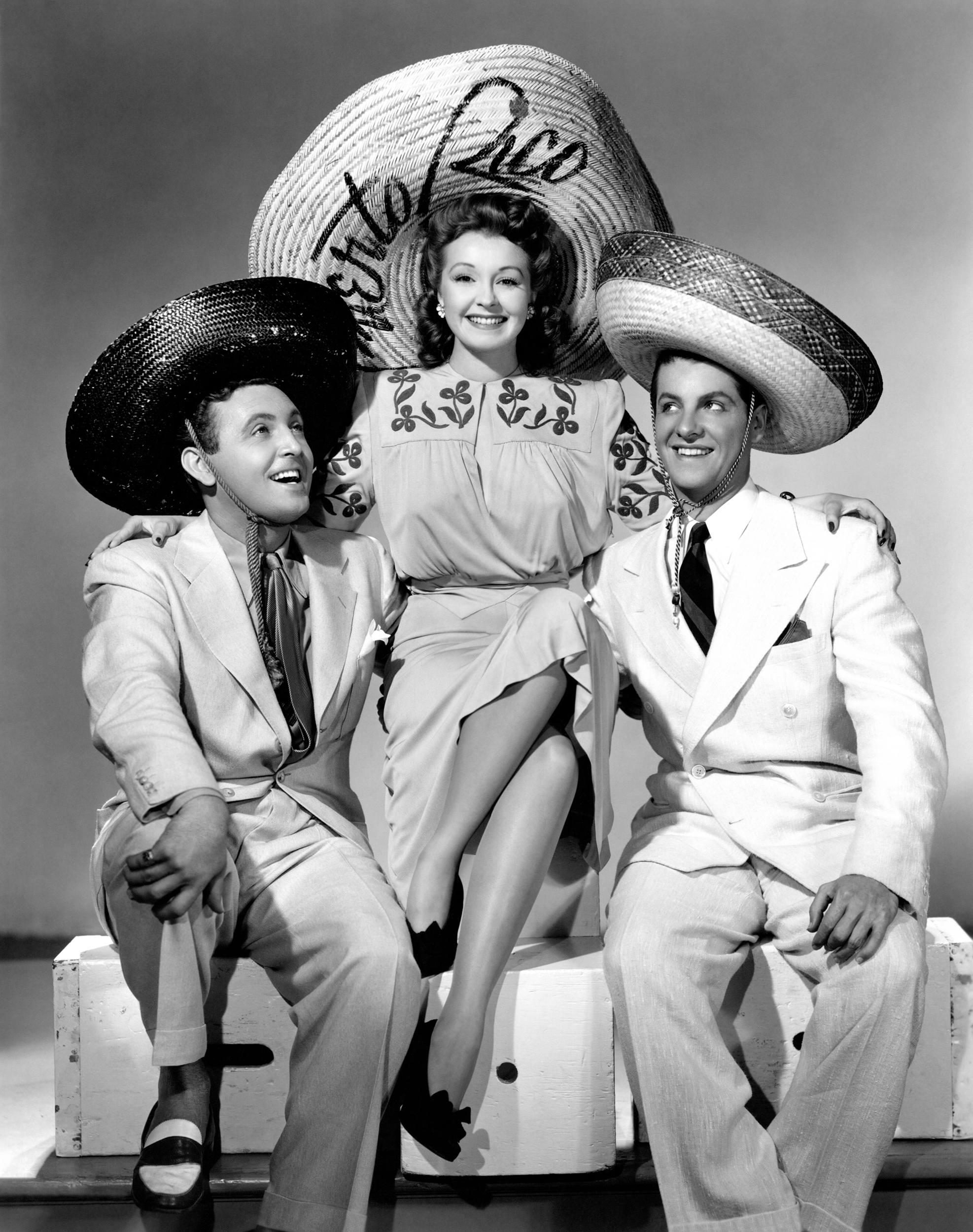 Nancy Kelly in One Night in the Tropics with (L to R) Allan Jones, Nancy Kelly Robert Cummings (Courtesy of Ricardo)
